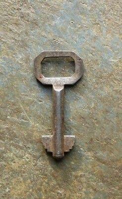 Antique Double Bit Solid Shaft Key  #  6  Roll-Top Desk Key Number 6 Desk Key