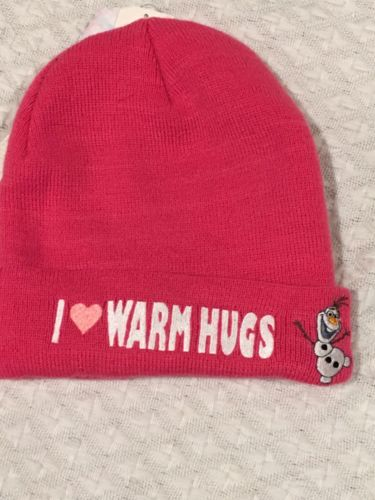 NWT Girls Frozen Winter Stocking Hat Pink Olaf