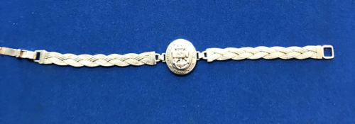 Women's Sterling Silver USN US Navy Forget  Bracelet , Free Shipping