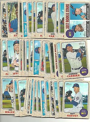 2017 Topps Heritage New York Mets Lot (39) Assorted Stars RC's Great For Auto's