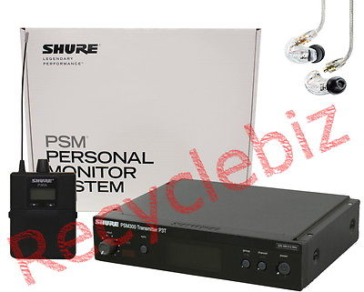 Shure PSM 300 PSM300 Personal Monitor System Wireless In Ear IEM P3TRA215CL -G20