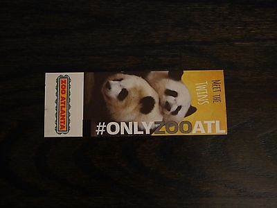 1 Zoo Atlanta Ticket - Expires 03/31/2018