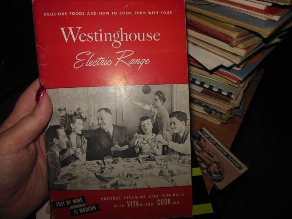 Vintage 1947 WESTINGHOUSE ELECTRIC RANGE Promotion & Recipe Booklet