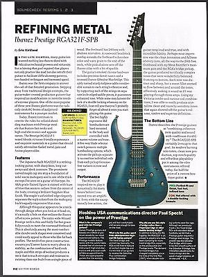Ibanez Prestige RGA 321F-SPB electric guitar 8 x 11 sound check review
