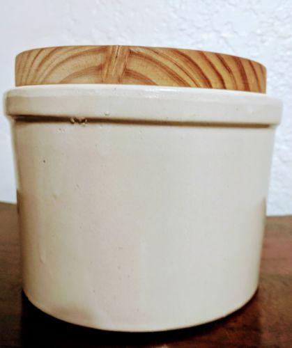 VTG Stoneware Butter Crock Willow Farm La Grange Illinois