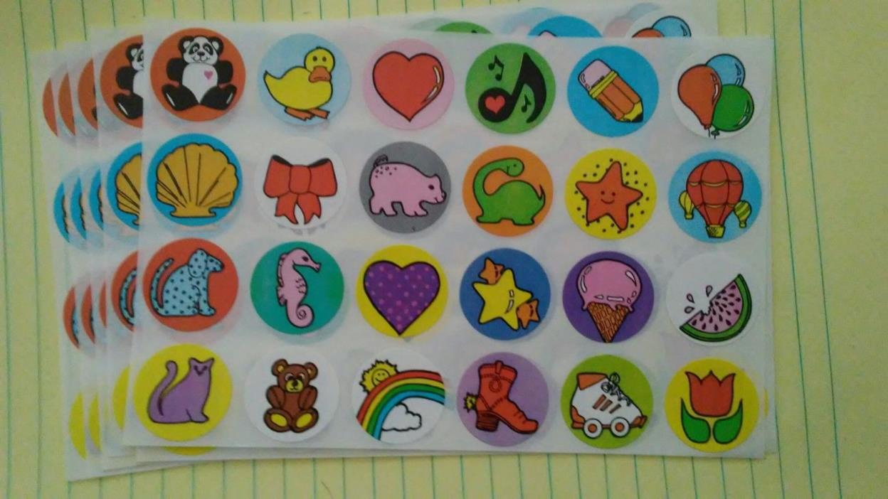 1,440 Stickers NEW variety kids projects crafts school combined shipping