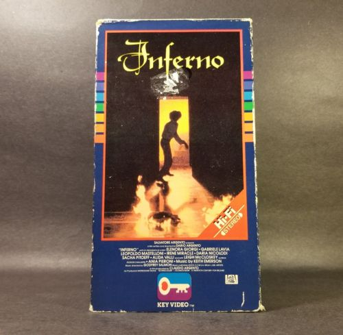 Inferno -1978 (VHS, 1985, Key Video/CBS/FOX Release) Used Tested! Dario Argento.