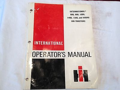 International 86 Series Tractors Original IHC Operators Manual #1096207R2 7-79
