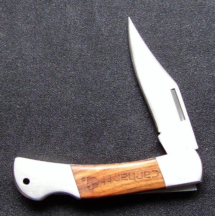 Carhartt Knife With Logo Wood Inlay Handle