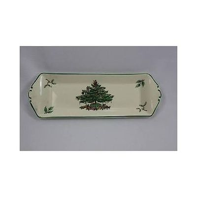Vintage SPODE England S3324T Christmas Tree Gifts Candy Dish Trinket Tray Dish