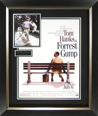 Forrest Gump Tom Hanks Signed Movie Poster Display Framed
