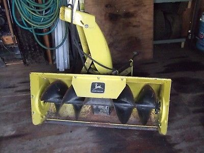 john deere snow blower attachment fits lawn tractors 120--135--140--175--used