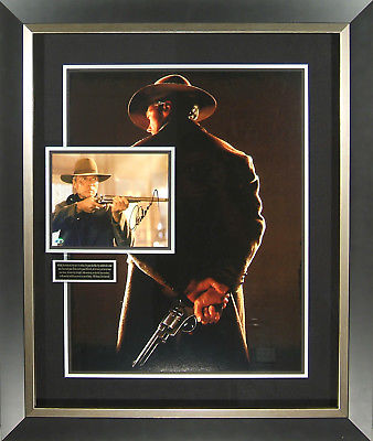 Unforgiven Clint Eastwood Signed Movie Poster Display Framed