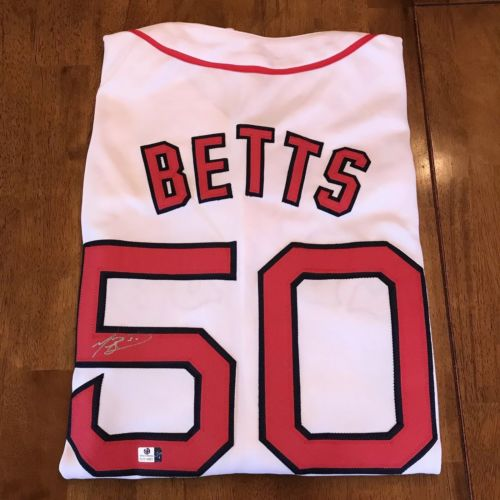 Mookie Betts Signed Autographed Boston Red Sox Jersey GA COA