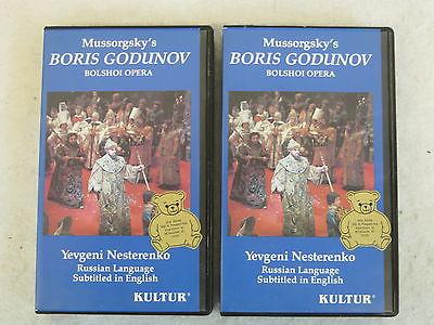 Mussorgsky's  BORIS GODUNOV  BOLSHOI OPERA  2 VHS In Clamshell  Kultur 1978