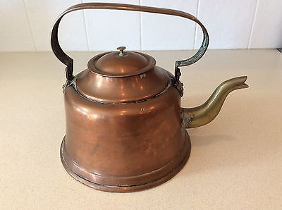 Antique COPPER and Brass NURIOS 20 Gooseneck Teapot Kettle