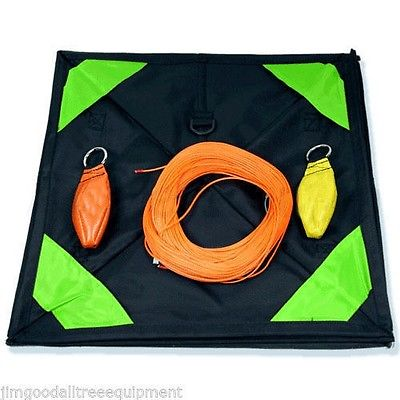 Throw Line Kit for Arborist,Cube, 10oz&12oz Throw Bags,200' Dynaglide Throw Line