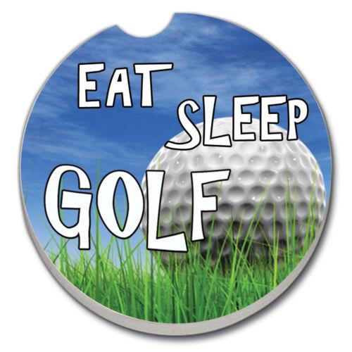 CArt Eat Sleep Golf Car Coaster Single, Buy 2 or More & Save 20%