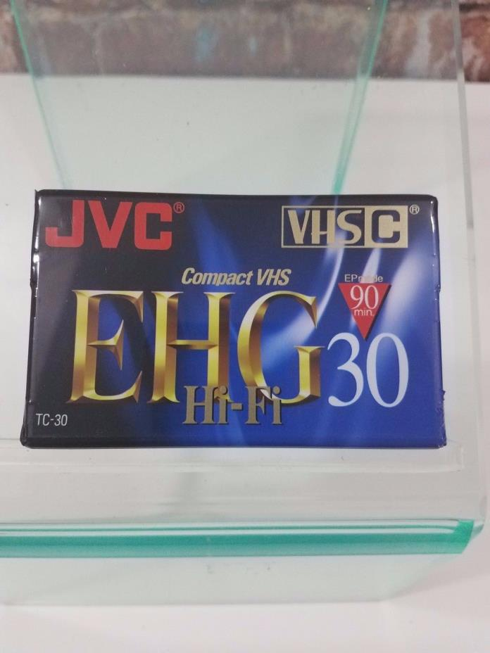 JVC EHG Hi-Fi 30 VHSC Blank Tape 90 Min Compact VHS TC-30