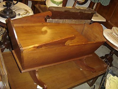 Antique Handmade Walnut Cradle converted to a Coffee Table/Magazine holder.8258