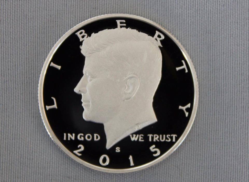 2015-S Kennedy Silver Proof Half Dollar Ultra Deep Cameo!!
