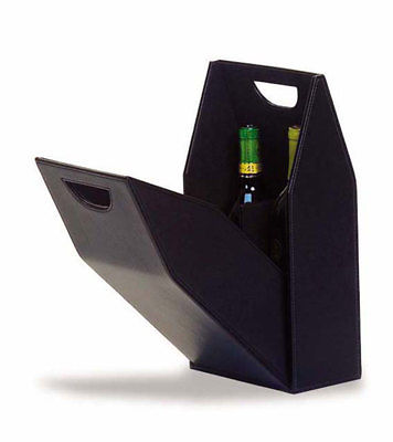 Faux Leather Single Bottle Gift Box - Black, New