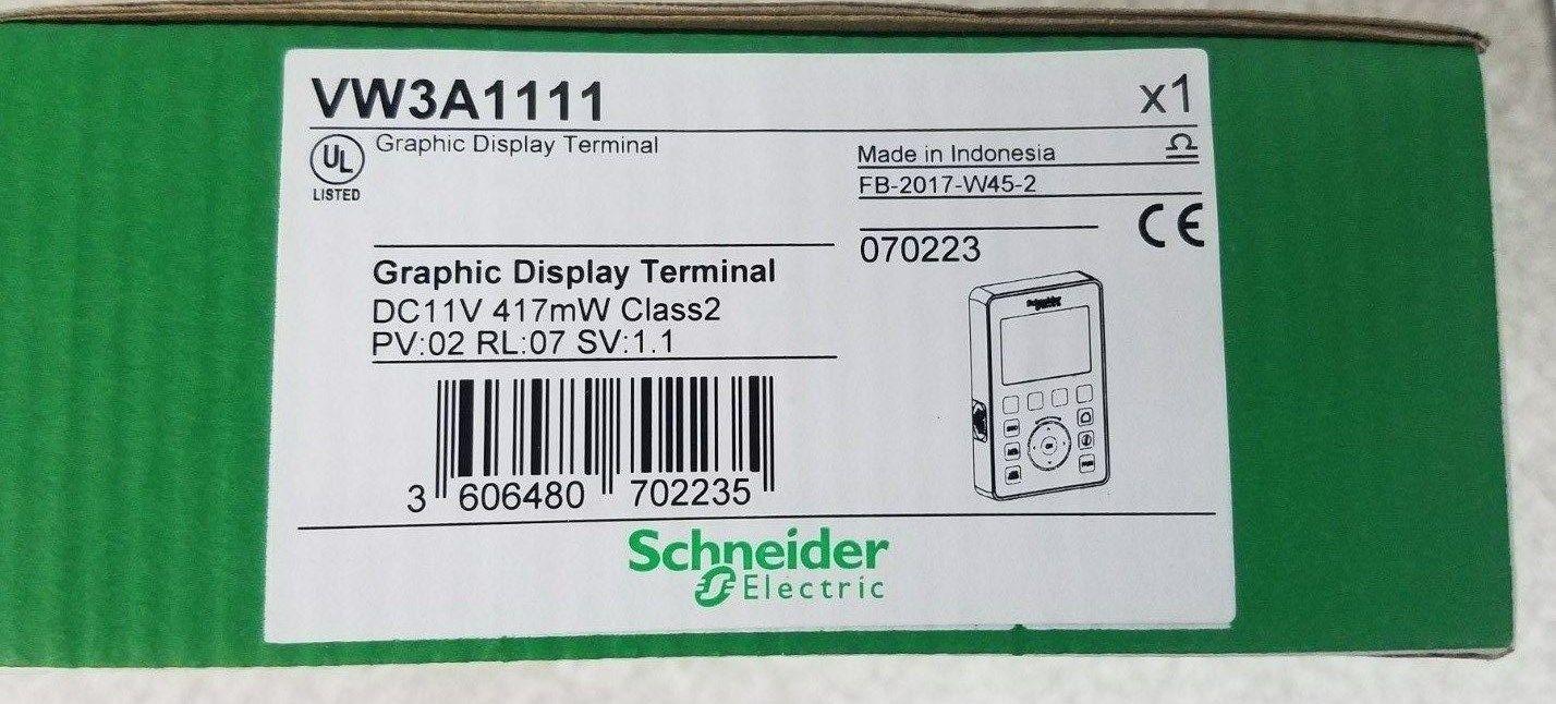 SCHNEIDER VW3A1111 GRAPHIC DESPLAY TERMINAL