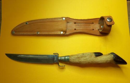 Vintage Baldon Solinger Germany Deer Foot Bowie Hunting Knife