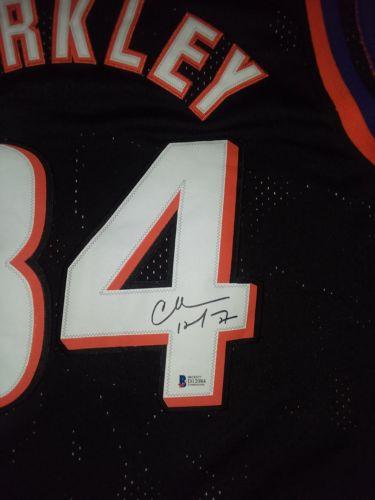 Charles Barkley auto Phoenix Suns Adidas Hardwood Classics basketball jersey BAS
