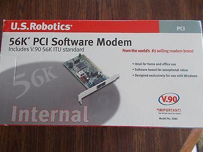 US ROBOTICS  USR5600 56 Kbps PCI Software Modem V90 56K ITU Standard