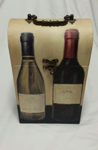 LINENS N THINGS PANEL DOUBLE WINEBOX MULTI CARRIER