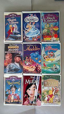 WOW! LOT 29 of Disney VHS Tape Movies -Black Diamond/Masterpiece/etc clamshell