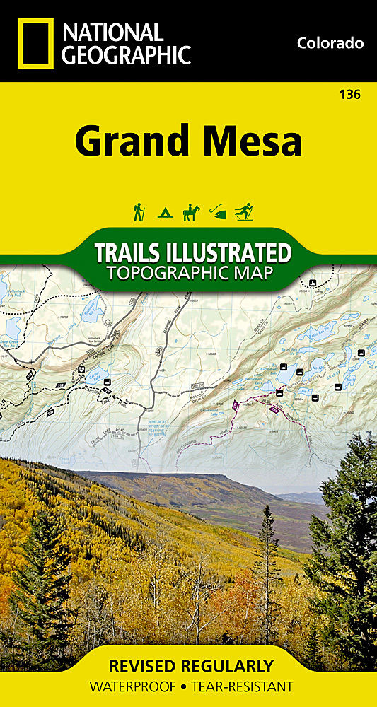 Trails Illustrated Map: Grand Mesa Trail Map #136