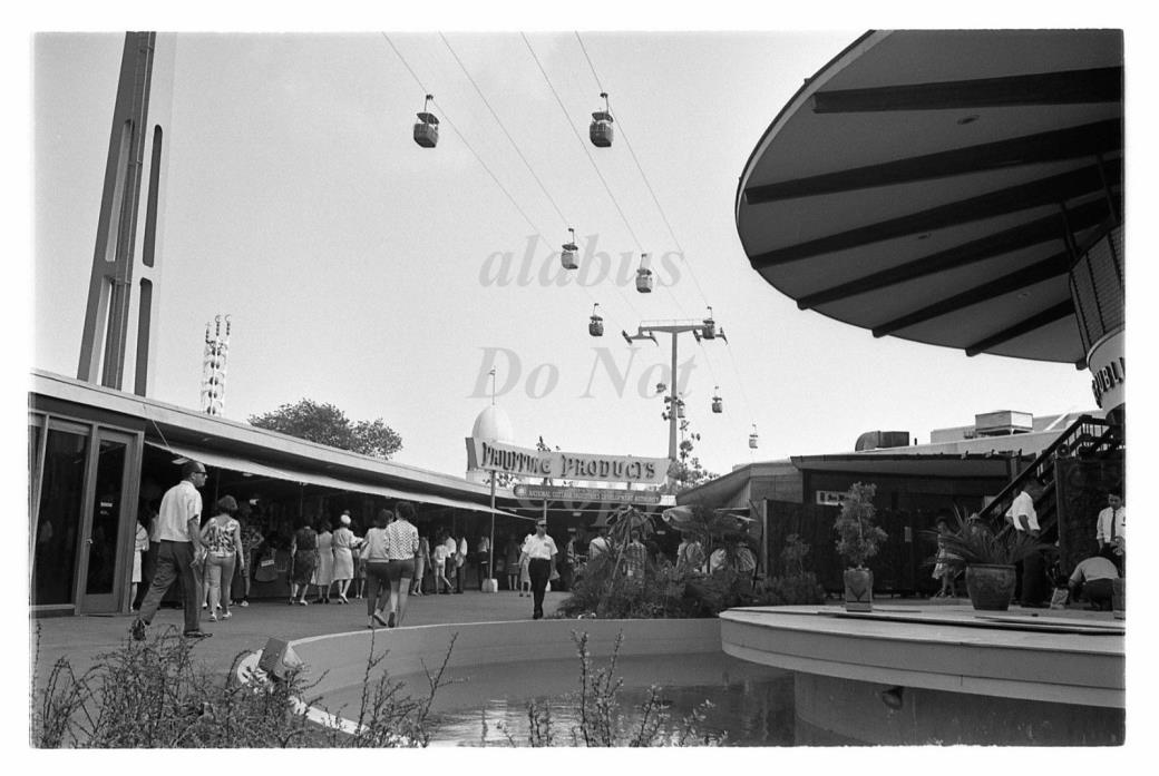 Orig Negative VIEW w SWISS SKY RIDE & PHILIPPINE PAVILION @ 1964 WORLD'S FAIR NY