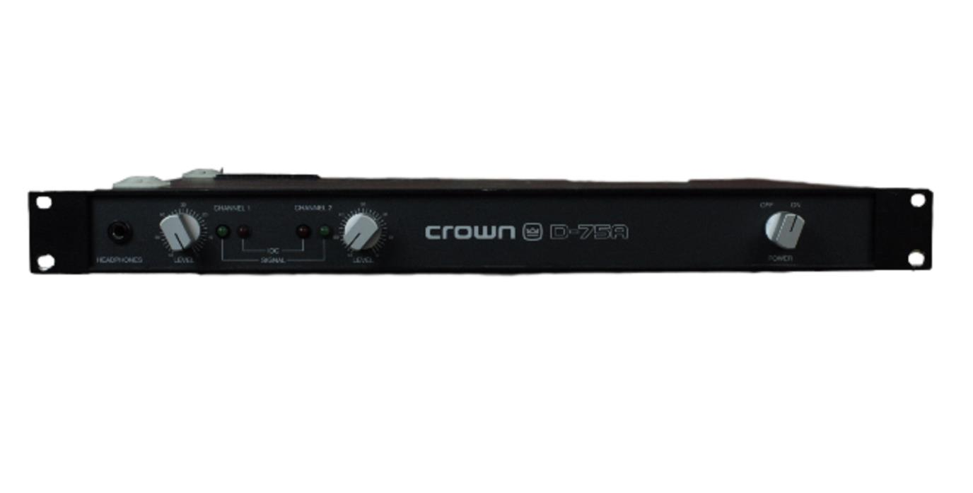 CROWN D-75A 2 CHANNEL POWER AMPLIFIER