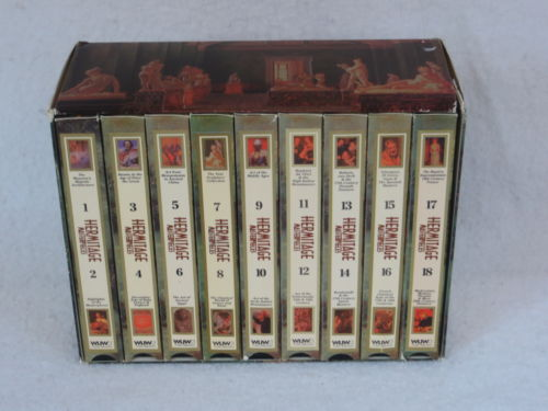 HERMITAGE MASTERPIECES SERIES  9 VHS TAPE BOXED SET