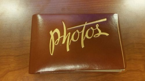 vintage leather photo book