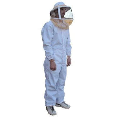 Mann Lake CL632 Cotton/Polyester Deluxe Bee Suit With Zipper Veil, Large