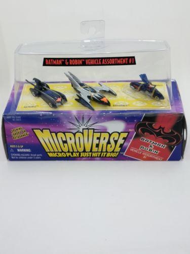 VINTAGE KENNER 1997 Batman & Robin MicroVerse Vehicles Batmobile Bathammer