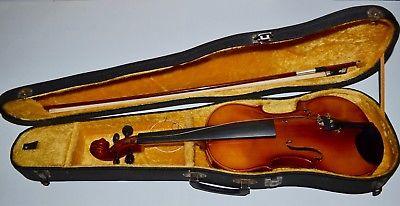 Very Good Vintage Masakichi Suzuki Full Scale Size 4/4 #102 Violin Case Bow