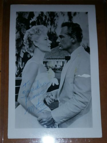 1958 MITZI GAYNOR CELEBRITY AUTOGRAPH PHOTO HOLLYWOOD GOLDEN ERA GORGEOUS