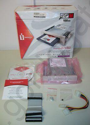 Iomega Zip 100 Internal IDE ATAPI Drive w/ Original Box Paperwork New, Old Stock
