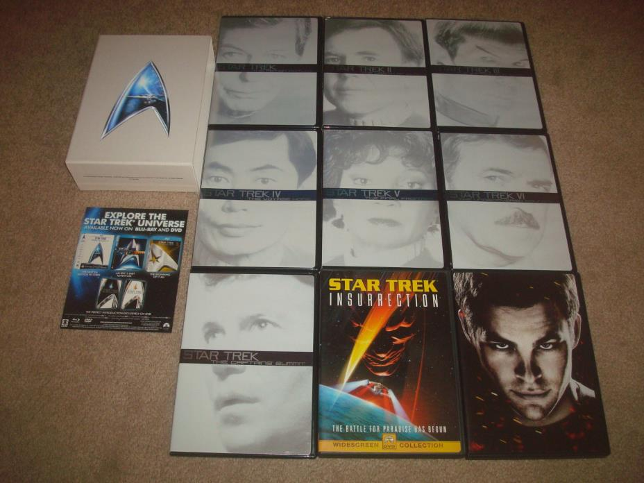 STAR TREK Original Movie Series Collection DVD Box Set + Insurrection 2009 LOT