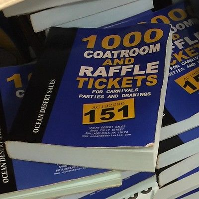 Cloakroom Raffle Tombola Draw Tickets BOOKS Numbered 1 -1000 NEW Carnival Fair