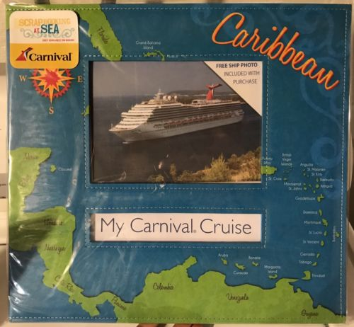 Carnival Cruise Line Scrapbook Photo Album (12x12) - NEW