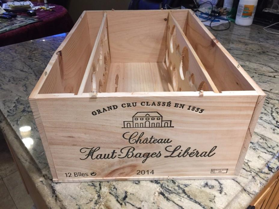 CH.HAUT BAGES LIBERAL 2014 PAUILLAC REGION FRENCH WINE CRATE19 5/8