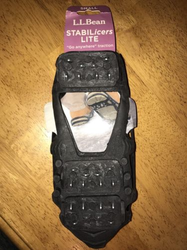 LL BEAN STABILICERS LITE SZ Small M 4-7 W 5-8 Traction ICE CLEATS NON SKID New!