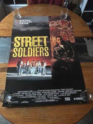 STREET SOLDIERS  - VINTAGE MOVIE POSTER!