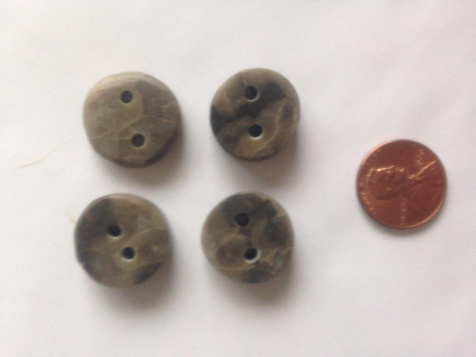 Lot of 4 Petoskey Stone Buttons 50