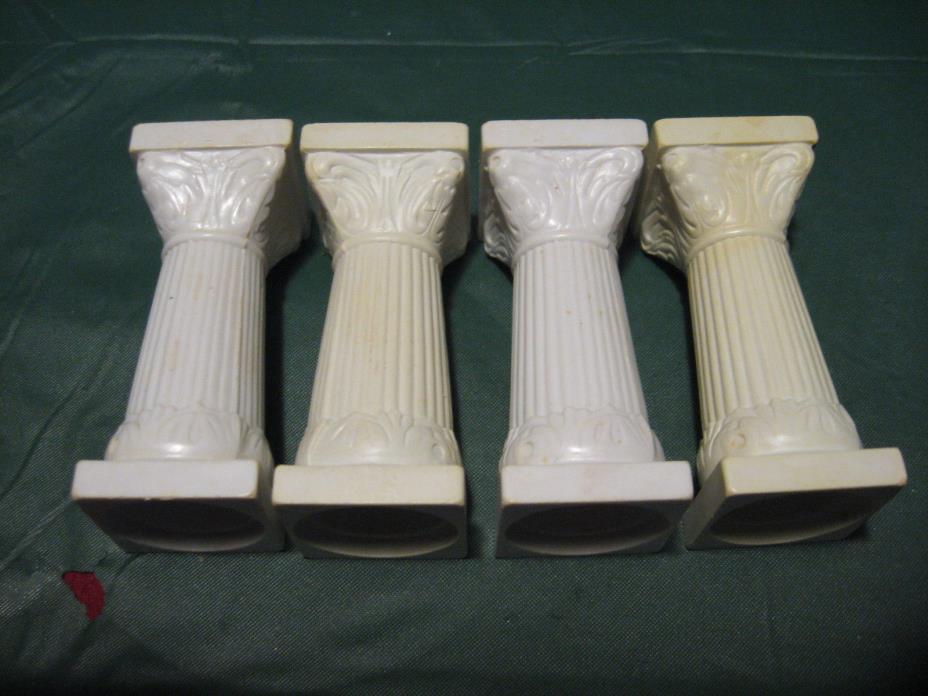 Vintage White Plastic 2 3/4